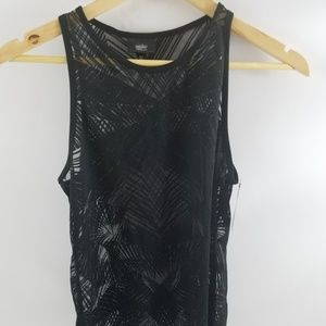 Tops - Womens Black See Through Summer Shirt SZ Medium